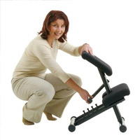 Image of Varier Multi Balans Kneeling Chair with girl