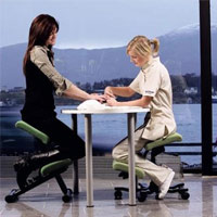 Image of Varier Wing Balans Kneeling Chair with girls